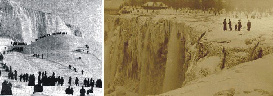 the Niagara Falls frozen