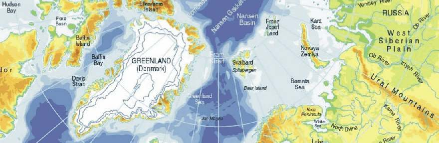 maps of arctic. Map showing part of the Arctic